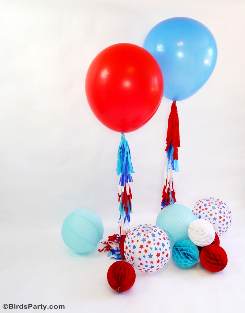 DIY 4th of July Photo Booth Balloon Party Idea - Party Ideas