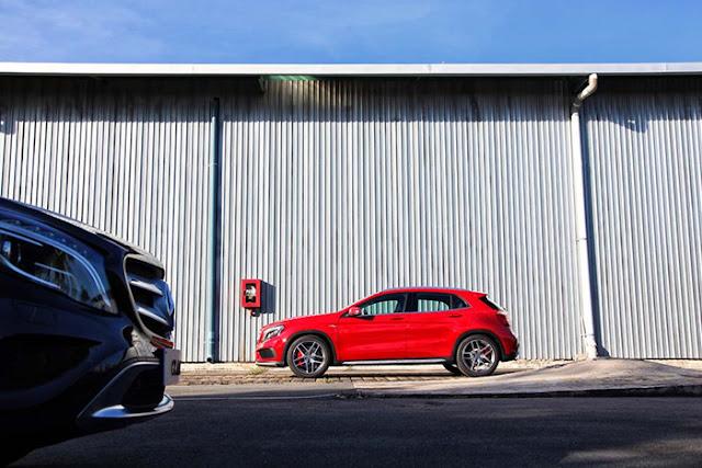 Mercedes AMG GLA 45 4MATIC là dòng xe em út trong gia đình SUV