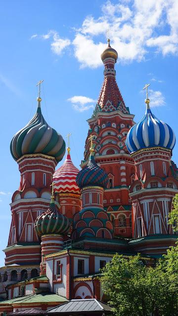 Изображение Храма Василия Блаженного, вид с северо-востока