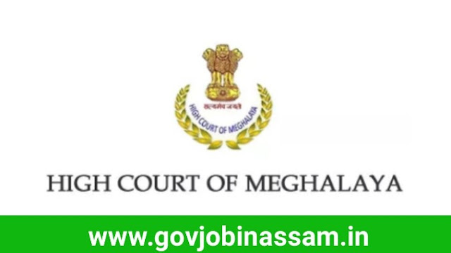 High Court Of Meghalaya Recruitment 2018