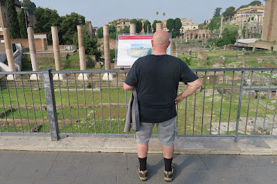 Gladiator tourist outside the Roman Forum