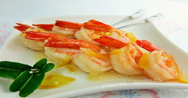 Fried Prawns In Honey Citron Sauce Recipe
