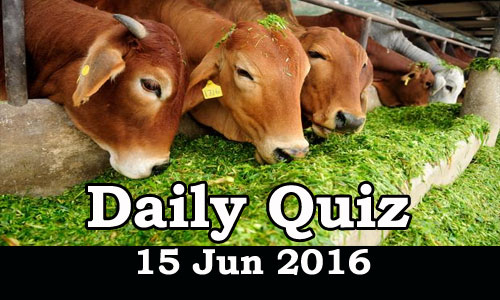 Daily Current Affairs Quiz - 15 Jun 2016