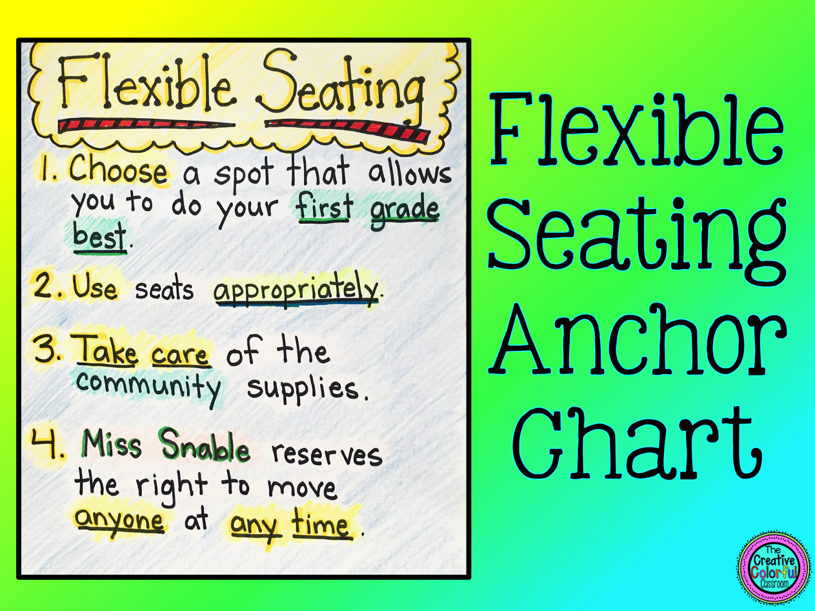 The Creative Colorful Classroom Flexible Seating