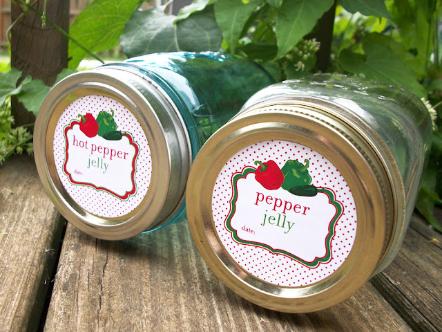 Cute Pepper Jelly Canning Jar Labels