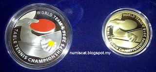Syiling Peringatan Malaysia Kejohanan Pingpong Berpasukan Dunia 2016