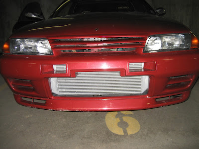 Red Skyline GTR Front Nose Intercooler Grill Bumper Lip