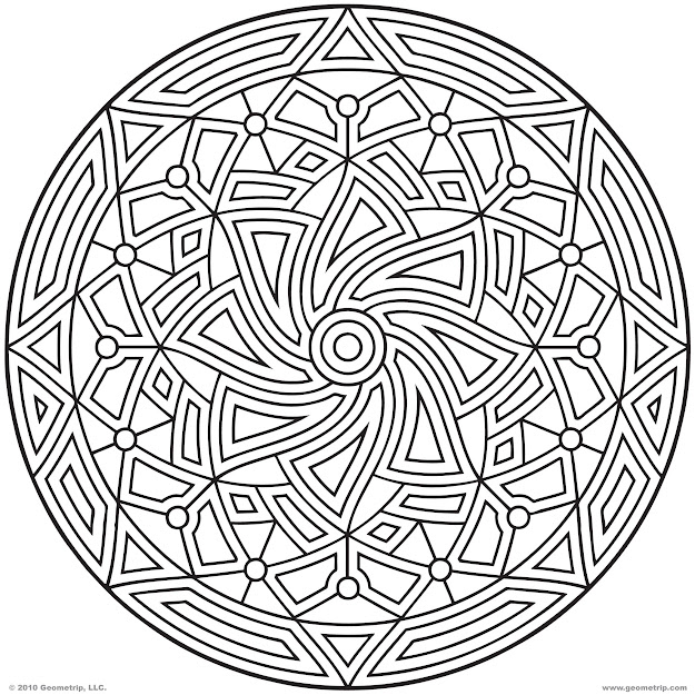 Images Of Printable Hard Geometric Coloring Pages  Geometrip  Free  Geometric Coloring Designs
