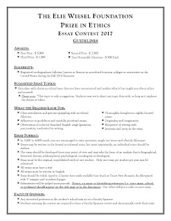 elie wiesel essay contest 2011 Free elie wiesel papers, essays, and research papers.