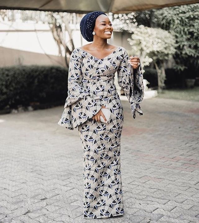 LADIES!! CHECKOUT THESE LATEST ANKARA LONG GOWN STYLES 2018 (PHOTOS)