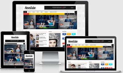 NewsTube blogger template