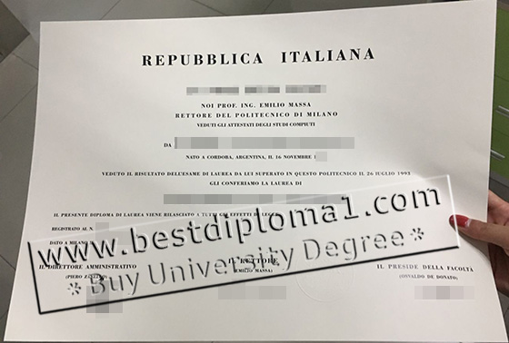 POLIMI degree replica