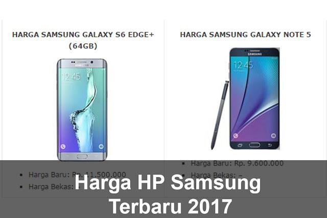 Harga HP Samsung Terbaru 2017