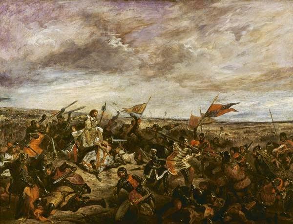 Batalha de Poitiers - Delacroix, Eugène e suas principais pinturas ~ Romantismo francês