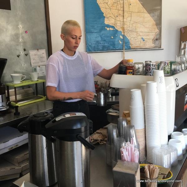 barrista at Coffee Conscious in Berkeley, California