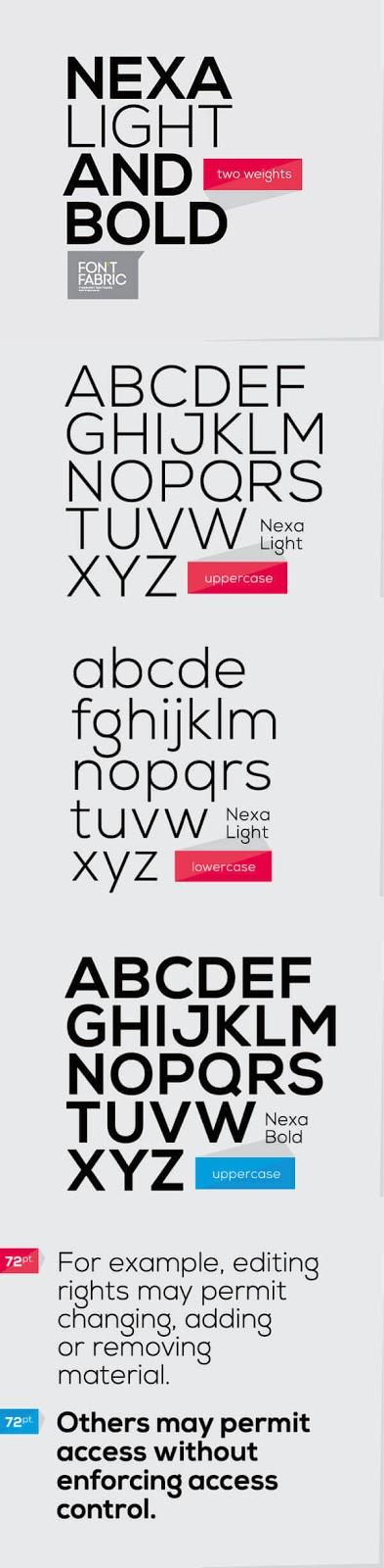 Download Gratis Sans Serif Komersial Font - Nexa Typeface