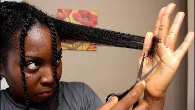 HOW TO TRIM NATURAL HAIR STRETCHED or STRAIGHTENED DiscoveringNatural