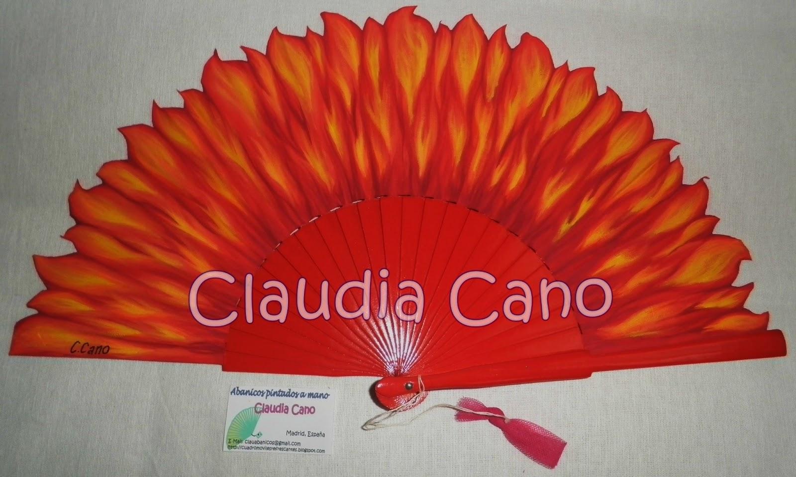 Abanicos pintados a mano por claudia cano enero 2013 - Abanicos pintados a mano originales ...