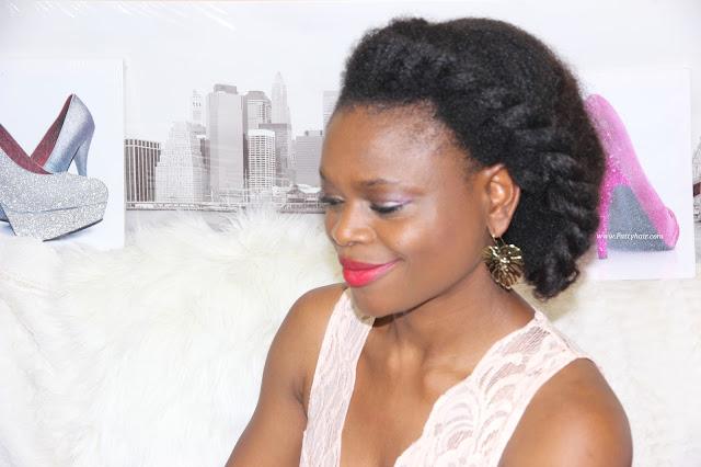 Patty Hair, coiffure cheveux naturels, Coiffure, afro, tresse sur le côté, extensions naturelles afro, anniversaire 40 ans, pagne, tenue en pagne, jupe en pagne, wax outfit, wax, body dentelle, body femme, imprimé africain, newlook