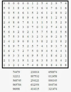 Free printable Word Search and Sudokus: Number Search Puzzle 2