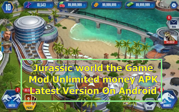 Download Jurassic world the Game Mod Unlimited money APK New