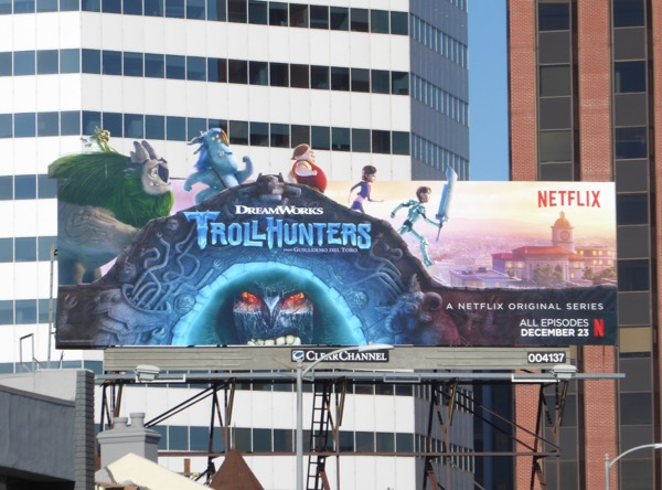 Trollhunters series launch billboard