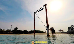 wisata bahari di pantai pasir perawan pulau pari pulau seribu