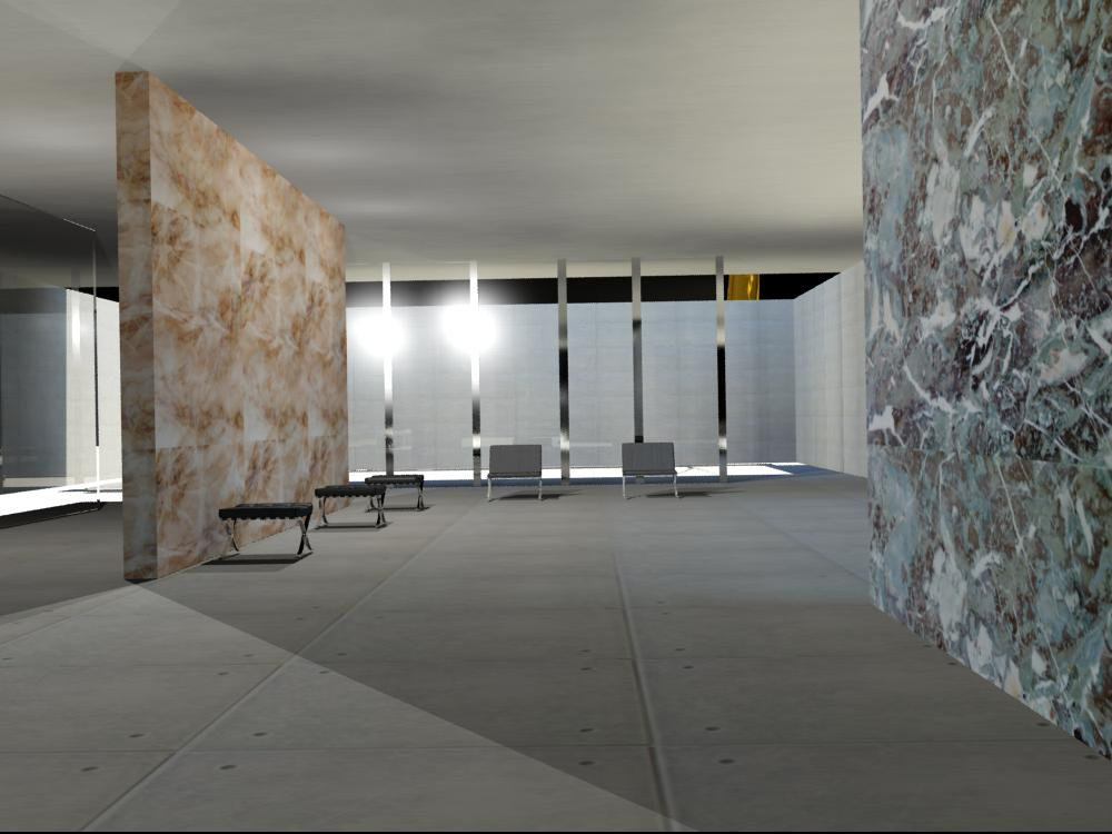 Autodesk 3ds max interior of barcelona pavilion - Autodesk 3ds max interior design ...