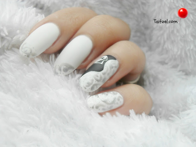 Manichiura cu oja alba wedding nails
