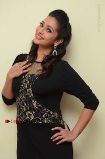 Telugu Actress Manasa Manohar Stills in Black Long Dress at Naku Nene Thopu Turumu Trailer Launch  0059.JPG