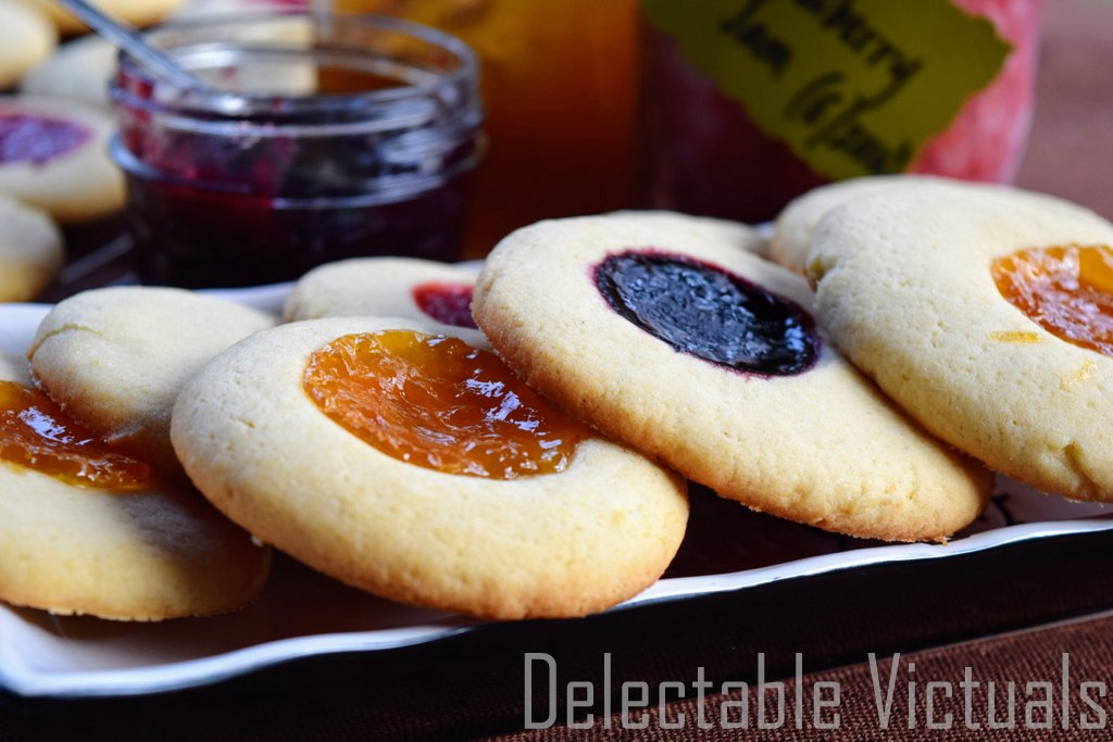 Apricot Strawberry Blackberry Jam Cookies