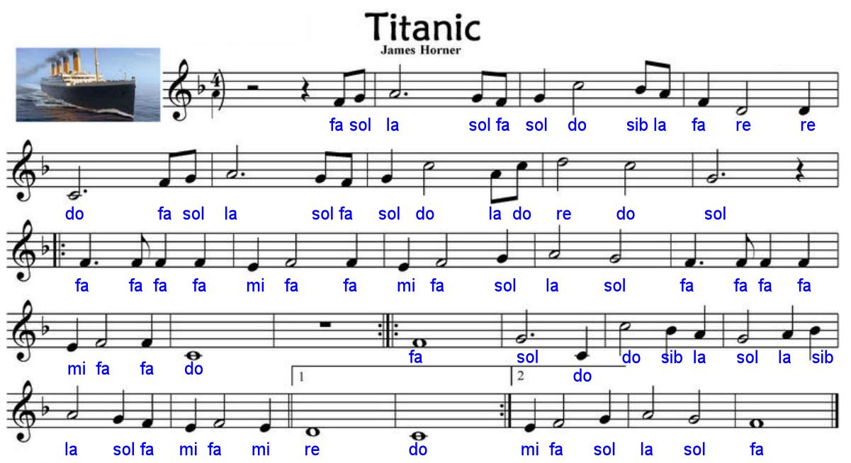 Partitura De Titanic Para Flauta Para Niños Niños Creativos