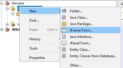 Membuat new JFrame Form pada Netbeans IDE
