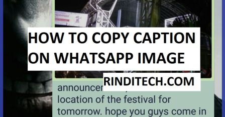 Cara Copy Paste Tulisan Caption di Foto pada Chat WhatsApp
