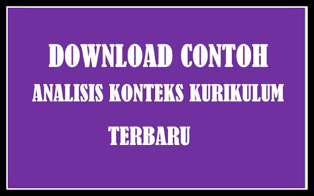 Download Contoh Analisis Konteks  Kurikulum Terbaru