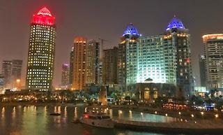 West Bay desde la terraza de Nobu en Doha, Qatar