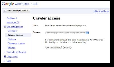 Google Webmaster Tools Seite Löschen