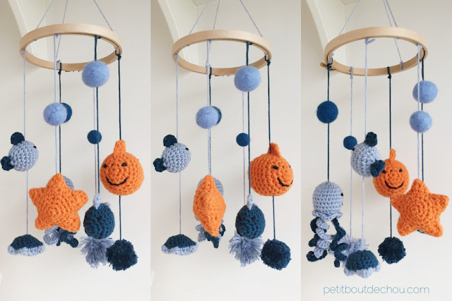 crochet under the sea mobile