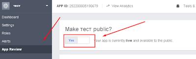 Facebook, Make app public?
