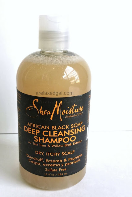 A review of the SheaMoisture African Black Soap Cleansing Shampoo. | arelaxedgal.com