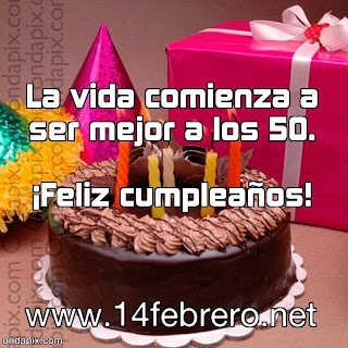 felicitar el 50  cumpleaños