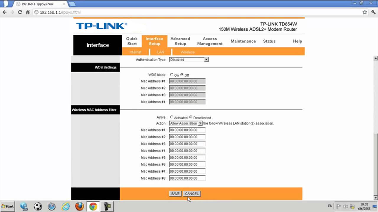 شرح ضبط اعدادات روتر تى بى لينك 300mbps N مودم راوتر وايرليس Adsl2 Tp Link Td W8961n