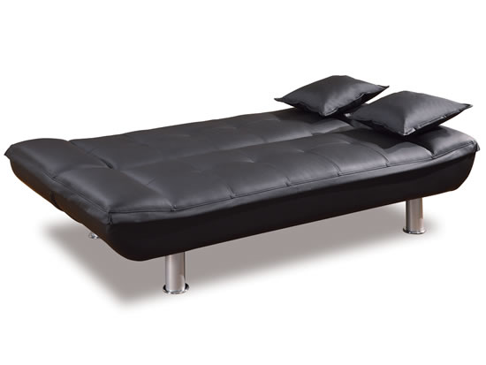 contemporary leather sofa bed corner abu dhabi click clack chair modern ikea