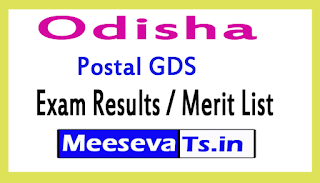 Odisha Postal GDS Exam Results /Merit List 2017