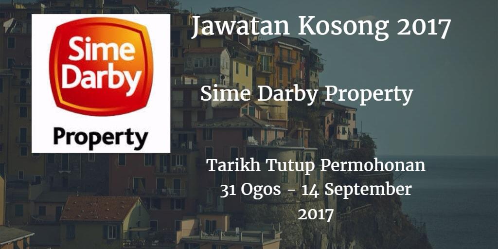 Jawatan Kosong Sime Darby Property 31 Ogos - 14 September 2017