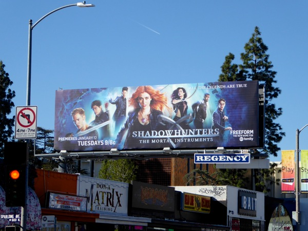 Shadowhunters Mortal Instruments TV billboard