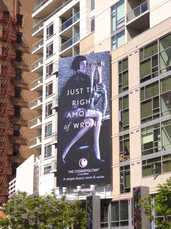 right amount of wrong Cosmopolitan Vegas billboard