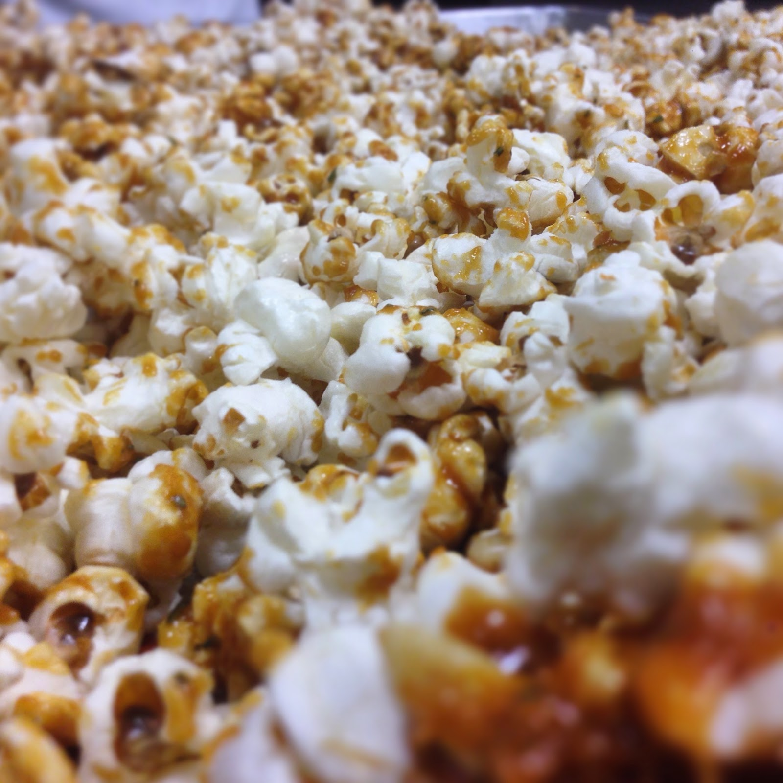 "Rosemary and Pine Nut Caramel Popcorn ""Cracker Jacks"""