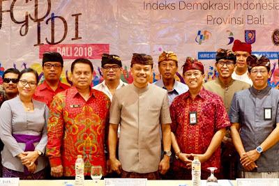 Sekda Dewa Indra Harapkan IDI Dapat Tingkatkan Kualitas Demokrasi