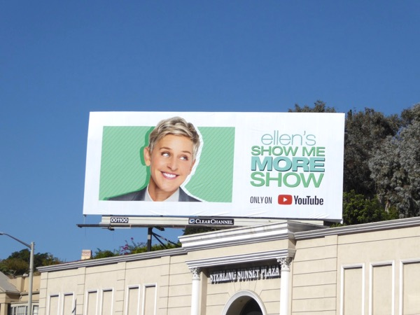 Ellens Show Me More YouTube billboard